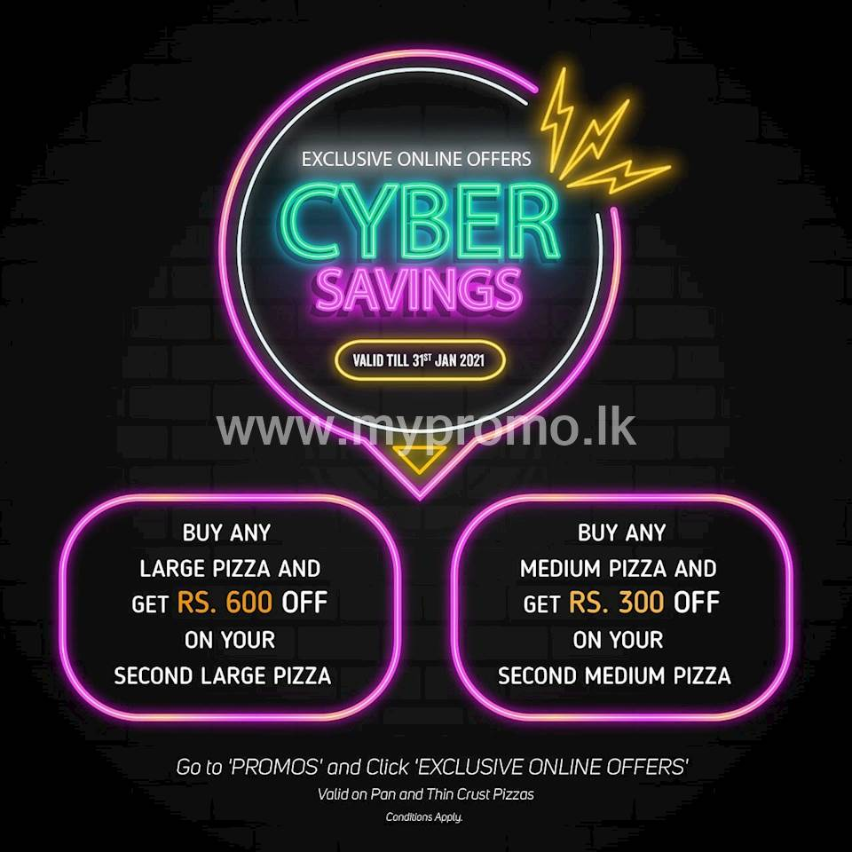 CYBER SAVINGS this January at Pizza Hut