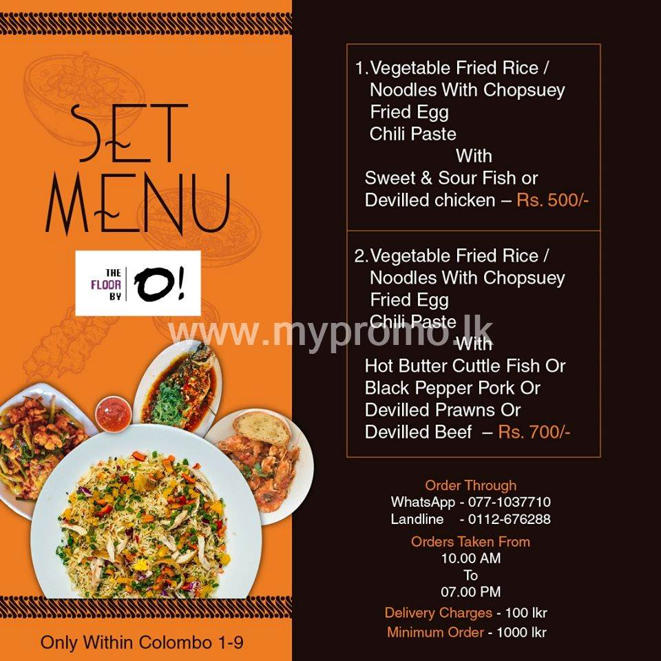Set Menu from The Floor By O