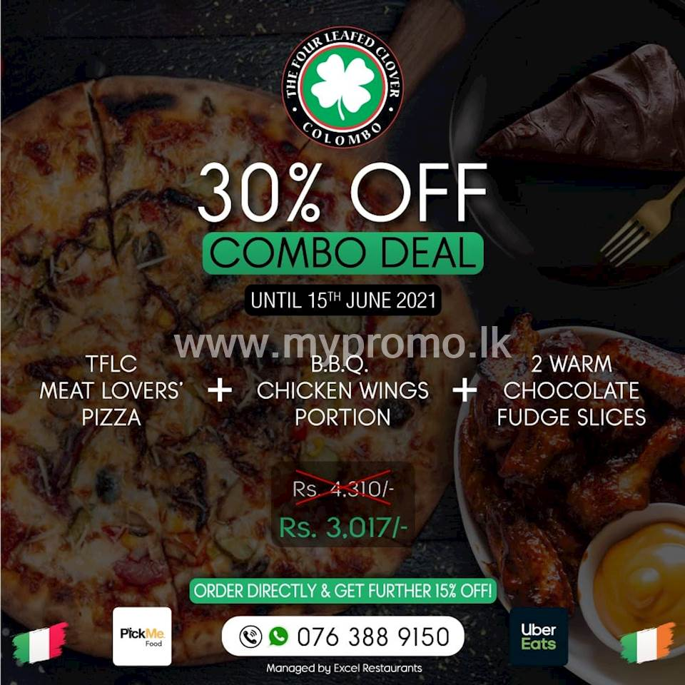 Combo Deal at The Four Leafed Clover