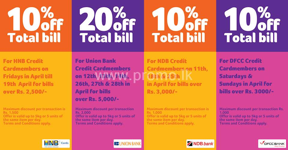 Get 10% - 20% off on your total bill when you shop with Keells this Avurudu season