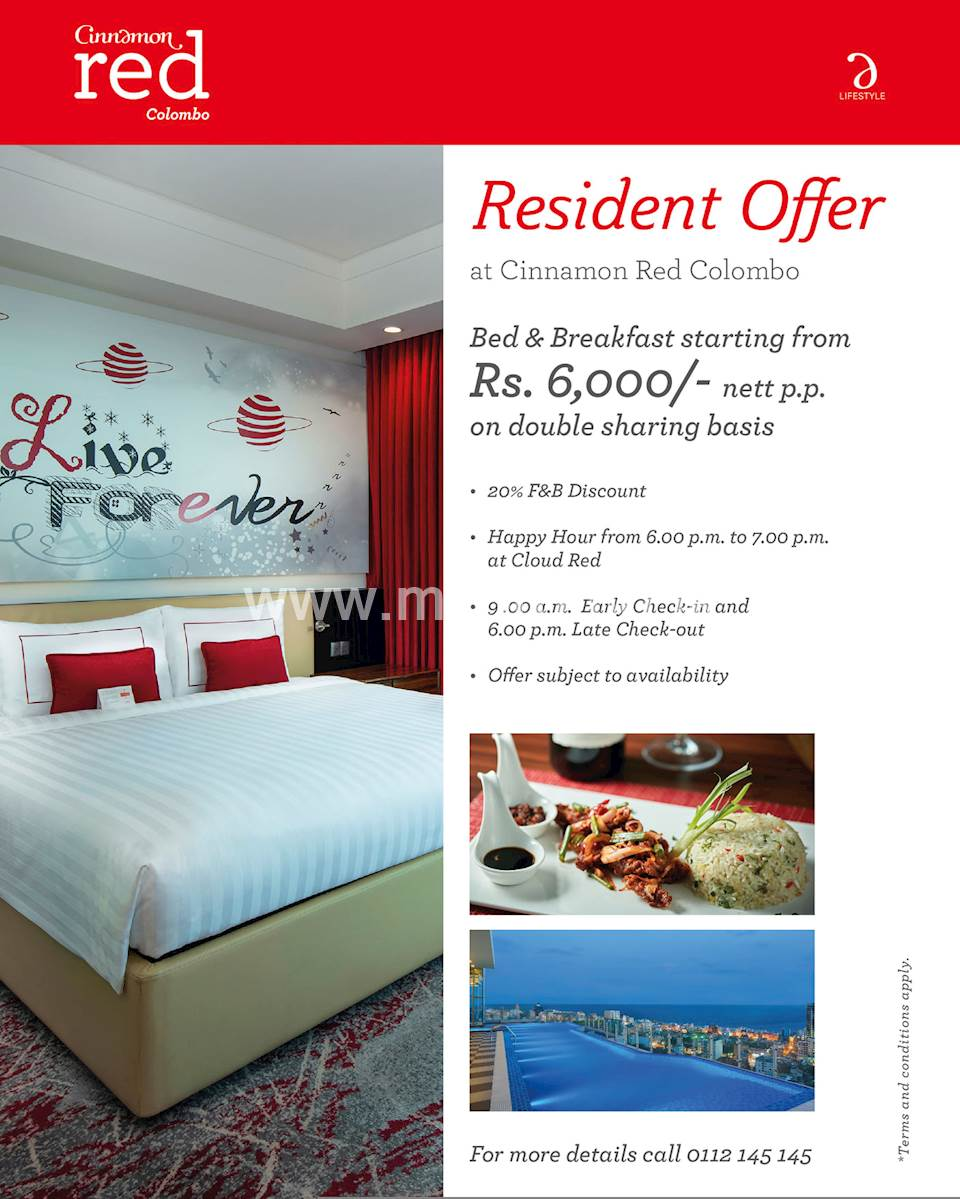 Resident Offer at Cinnamon Red Colombo