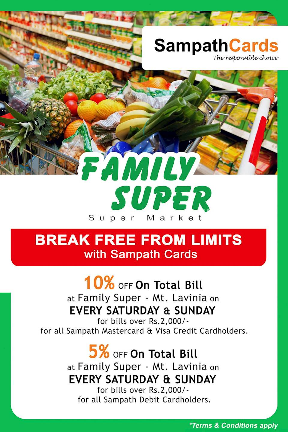 Family Super Sampath Bank Card Offers and Deals