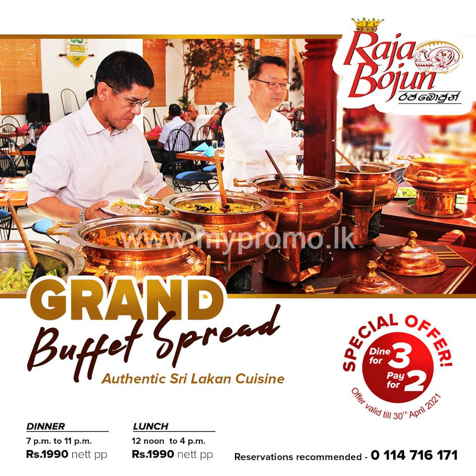 Dine in as a group of three & pay only for two at Raja Bojun