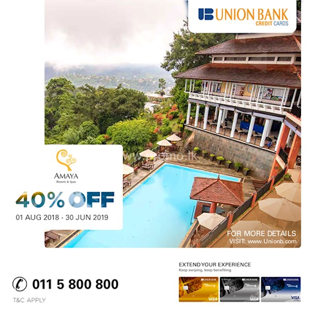 Get 40% Off at Amaya Resort and Spa exclusively for Union Bank Cardholders