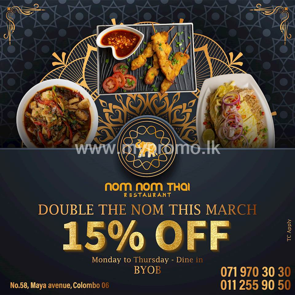 Get 15% Off at Nom Nom Thai