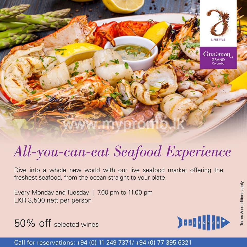 All-you-can-eat Seafood Experience at the Lagoon!