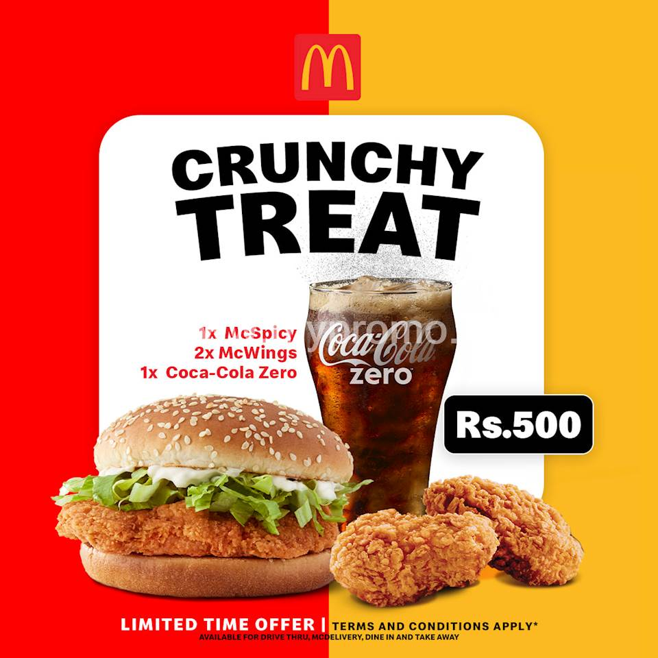 A Crunchy Treat For Rs.500 at McDonalds