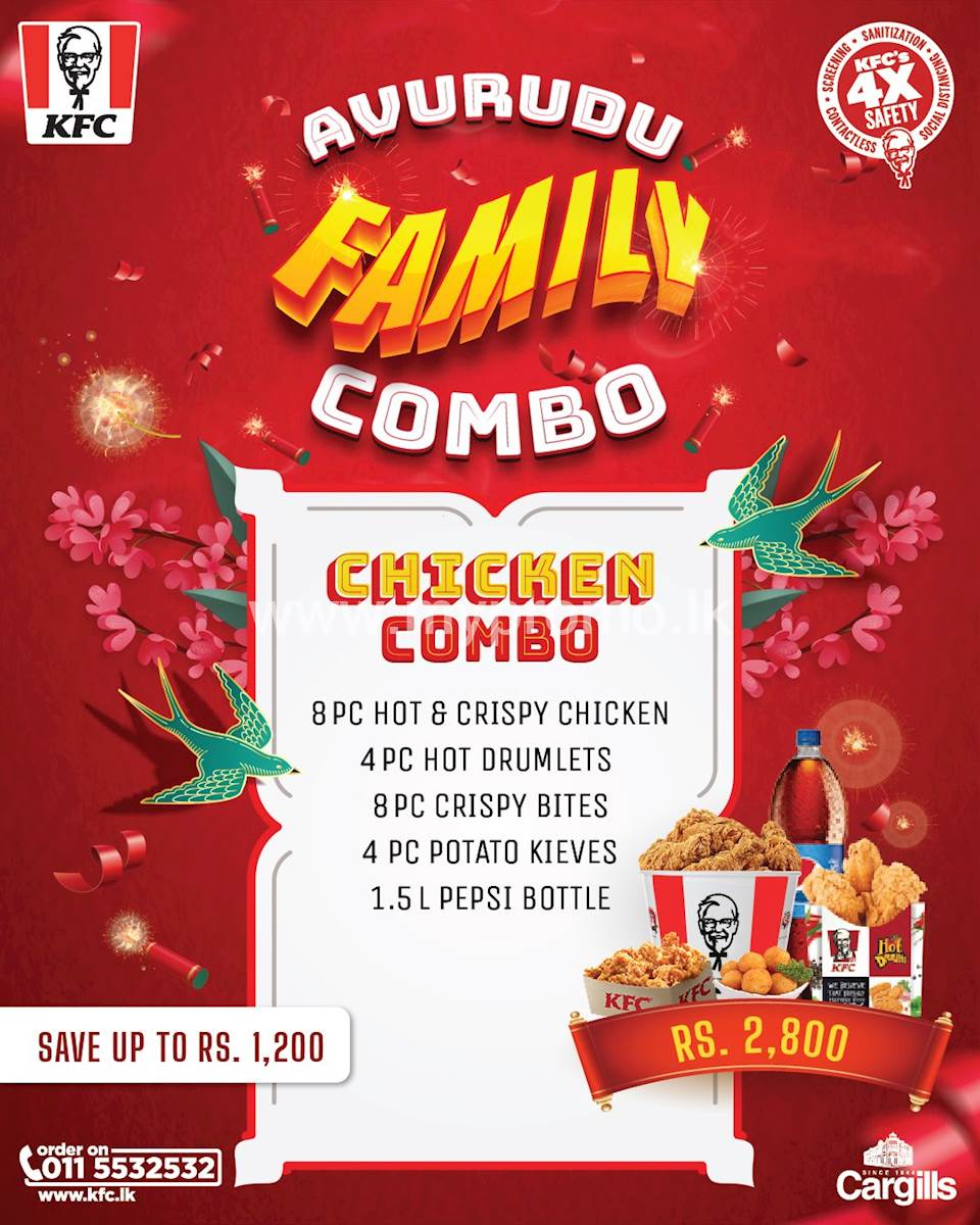 KFC Avurudu Family Chicken Combo