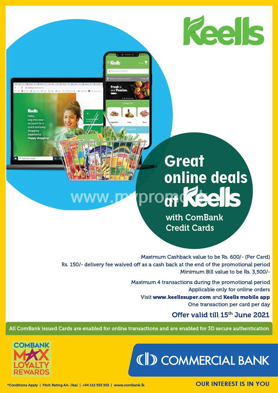 Great online deals at Keells with ComBank Credit Cards