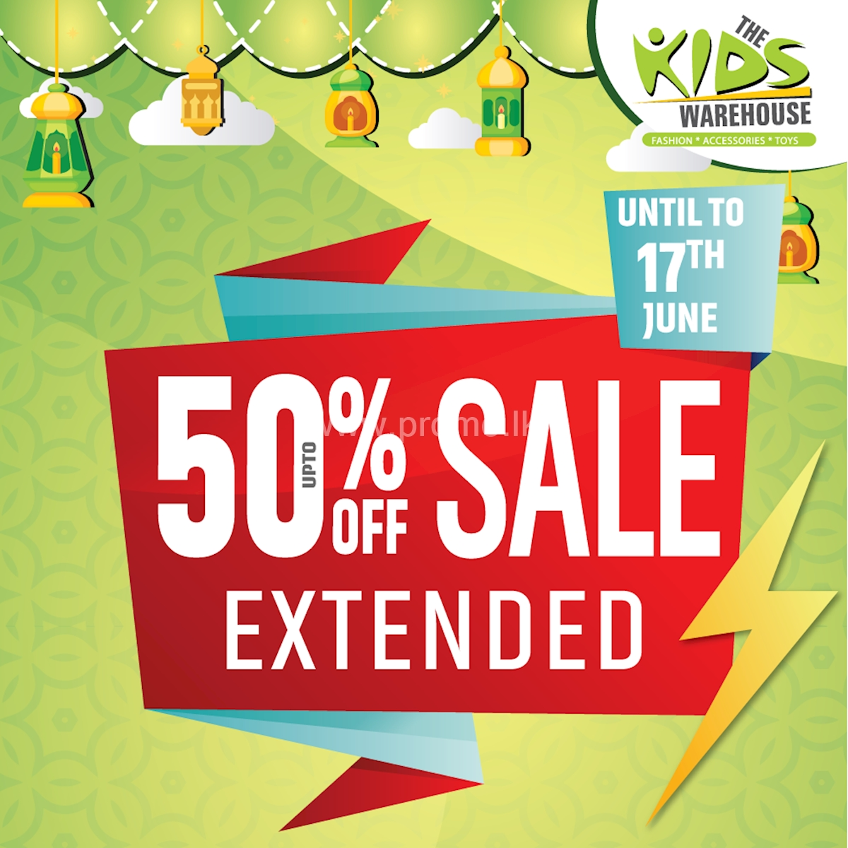 Extended Offer for upto 50% Off at Kids Warehouse