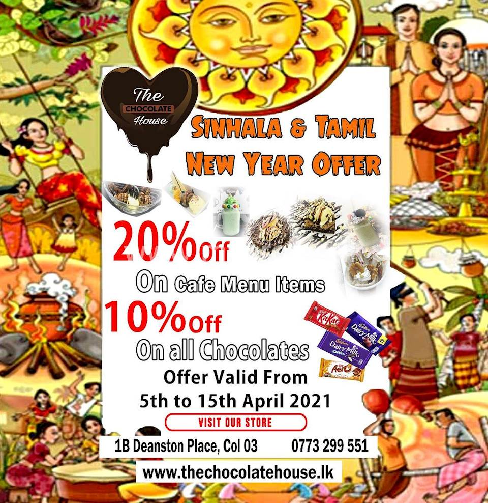 Enjoy 10% OFF on Chocolates & 20% OFF on the Cafe Menu at The Chocolate House