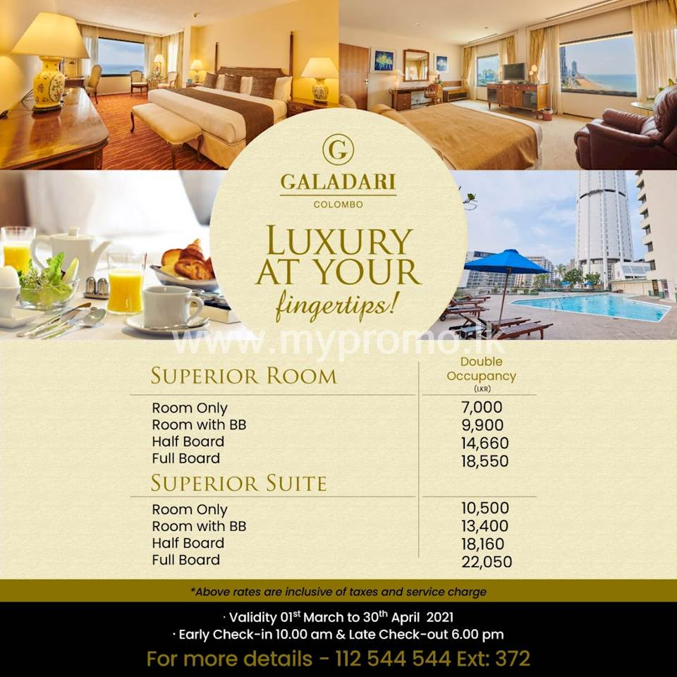 Luxury at your fingertips at Galadari Hotel