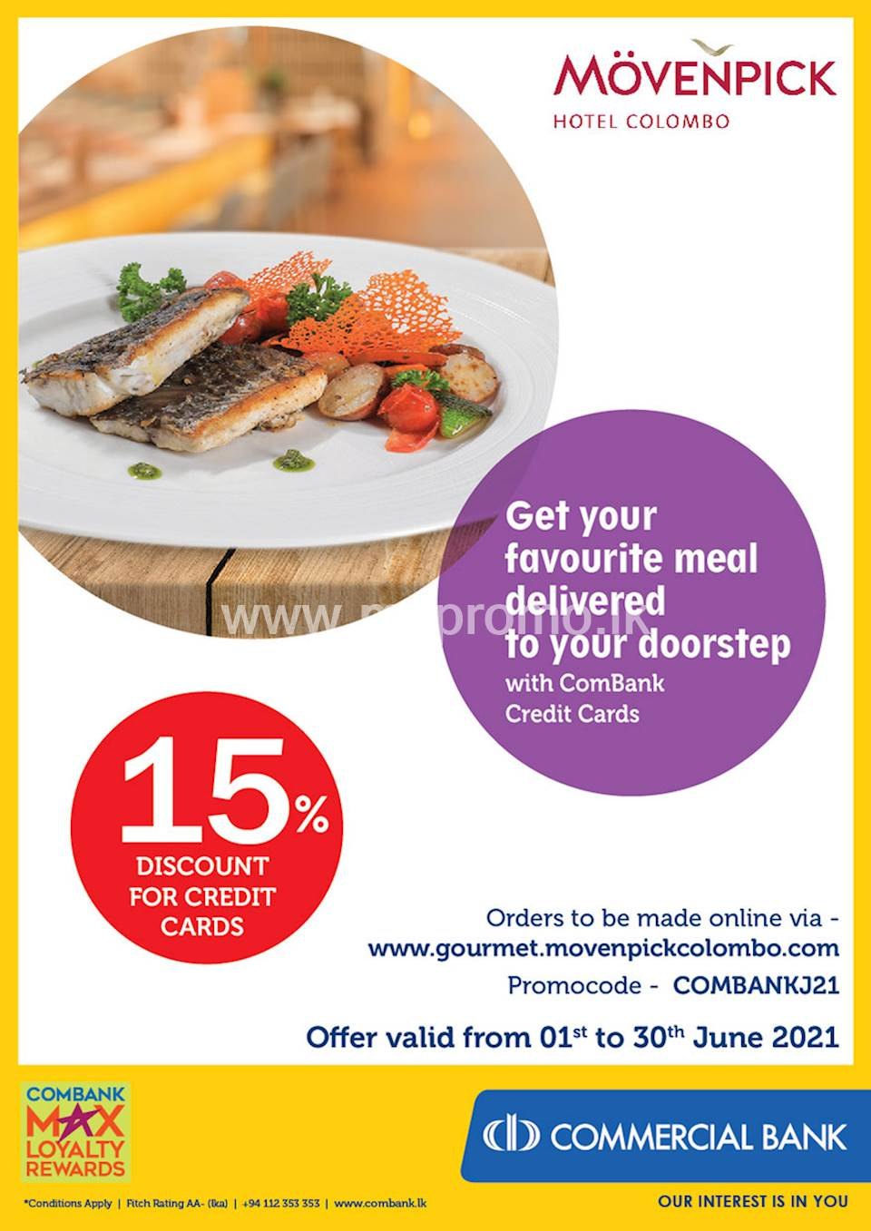Get your favourite meal delivered to your doorstep with ComBank Credit Cards