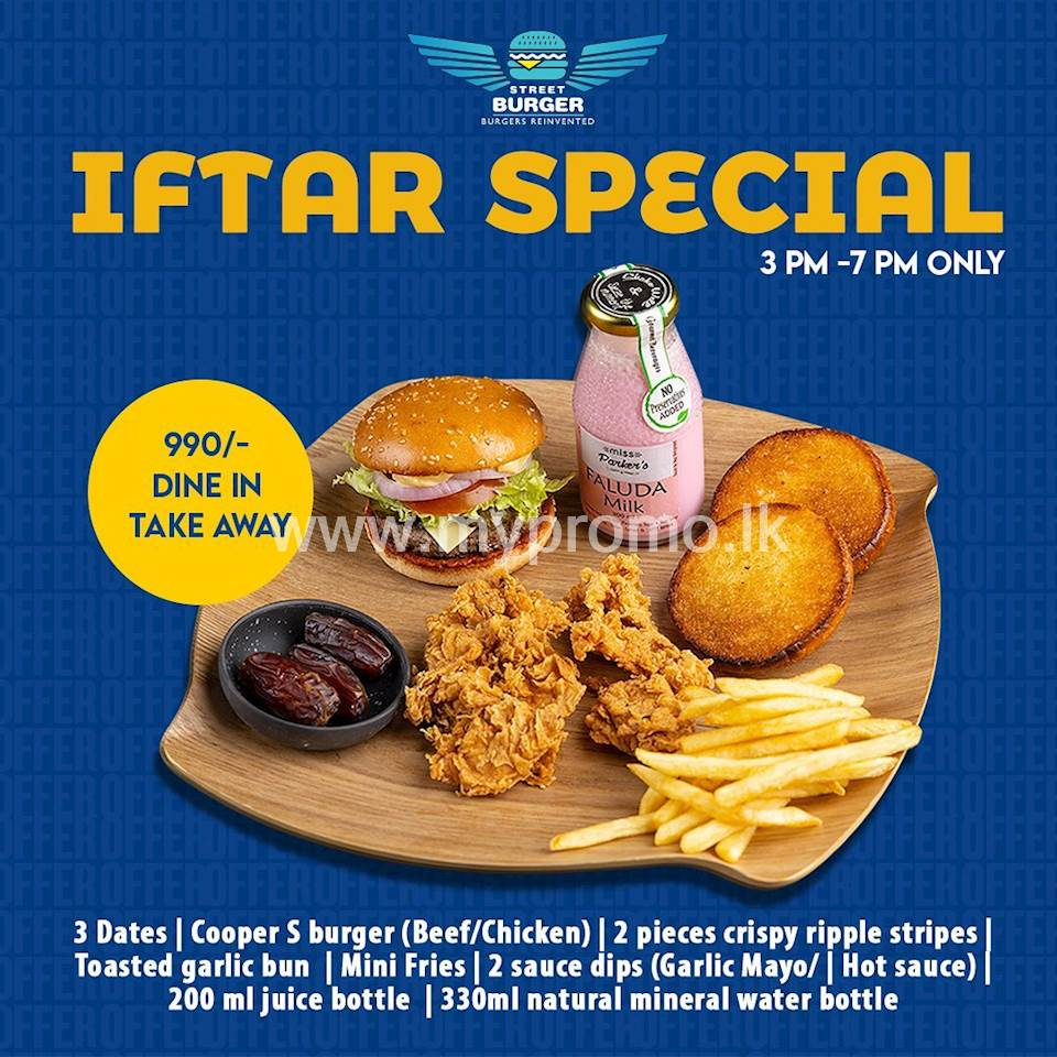 Iftar special for Rs. 990 at Street Burger