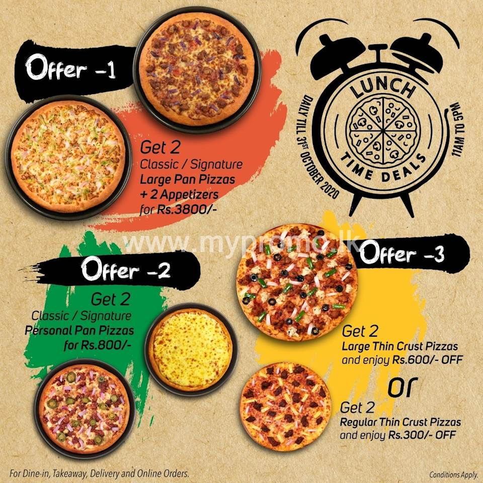 Lunch Time Deals At Pizza Hut This October