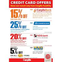 Enjoy amazing discounts for selected bank credit cardholders at Cargills Food City
