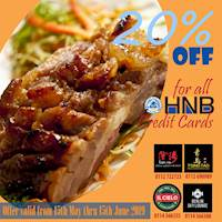 20% off for all HNB Credit Card Holders at Tsing Tao