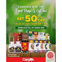 Celebrate with the finest range of gift tea with 50% Off at Cargills FoodCity!