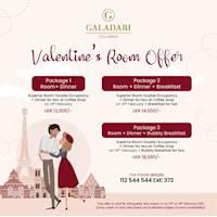 Valentine's Room Offer at Galadari Hotel