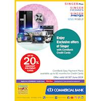 Up to 20% Discount for Credit and Debit Cards Purchases at Singer