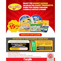 Enjoy the BIGGEST SAVINGS on Selected Dairy products When You Order Through Cargills Outlet 2 Home!