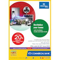 Up to 20% Discount for Credit Cards purchases at Dinapala Group