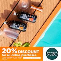 Enjoy a 20% Discount for all online purchases from SOZO via FriMi