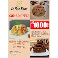 Combo Offer for Rs. 1000/- at La Rose Blanc