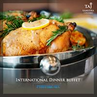 International dinner buffet at Taj Samudra