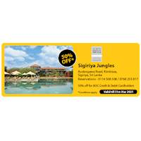 Get 50% off at Sigiriya Jungles for BOC Credit and Debit Cards