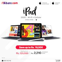 Shop online at buyabans.com and get up to Rs.19,000 OFF on Apple iPad (2020) 10.2'' Wi-Fi + Cellular