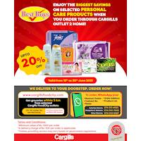 Enjoy the BIGGEST SAVINGS on Selected Personal Care Products When You Order Through Cargills Outlet 2 Home!