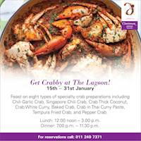 Get crabby at The Lagoon!