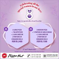 Enjoy two special offers from Pizza Hut