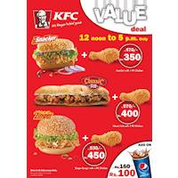 KFC Value Deal Between 12 Noon and 5pm