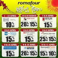 Romafour Seasonal Debit & Credit Card Offers!