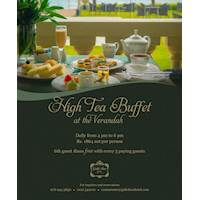 Gigh Tea Buffet is open daily from 4pm to 6pm with an exciting offer at Galle Face Hotel