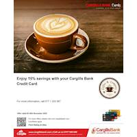 Enjoy 15% Savings with Cargill Bank Credit Card at Coffee & Company