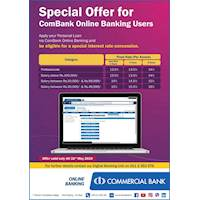 Special Offers for Commercial Bank Online Banking Users