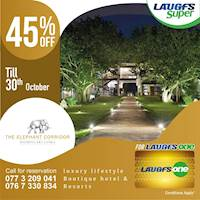 45% off on LAUGFS One Card at Elephant Corridor