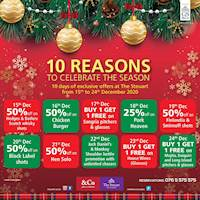 Enjoy 10 days of Christmas with fantastic Discounts / Buy one, Get one free at The Steuart by Citrus