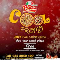 Buy 2 large Pizza and Get 2 Small Pizza Free at Italian Pizza Express