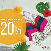 Buy 2 Bras and get 20% OFF at Glitz
