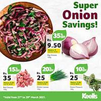 Enjoy amazing savings on a range of onions when you shop at Keells this weekend