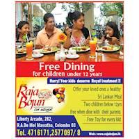 Free Dining for children under 12 years at Raja Bojun