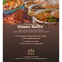 Family Dinner Buffet at the Galle Face Hotel