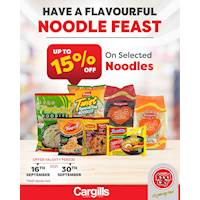 Get up to 15% OFF on a selection of Noodles at Cargills FoodCity