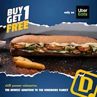 Buy One, Get One FREE OFFER only On UberEats from Dinemore