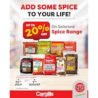 Get up to 20% OFF on Selected Spice Range at Cargills FoodCity