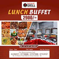 Marine grill's special lunch buffet
